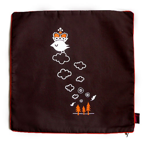 Snotty Crowned Bird Cushion Cover