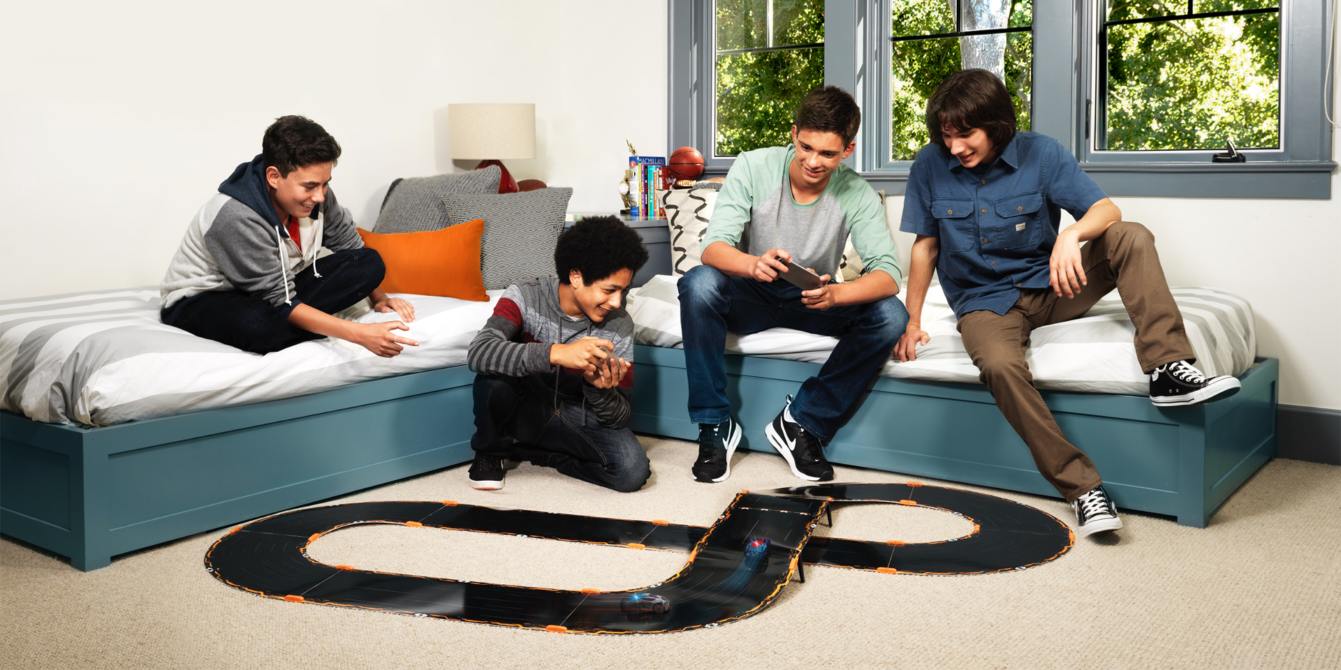 Anki Overdrive IOS or Android controllable Race Track Car Set