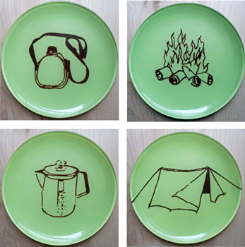 Campout Glass Plates by Nuno Studio