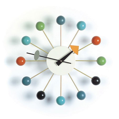 Multi-Color Ball Clock by George Nelson