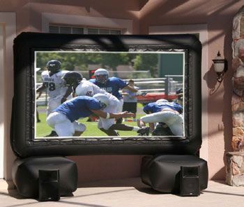 Watch Your Favorite Shows on a 144 inch Inflatable Television