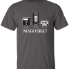 Never Forget Retro Vintage Cassette, VHS, Floppy Media T-Shirt
